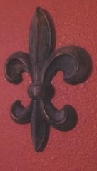 Fleur de Lis (Kenneth Wesley Earley) Tags: bar iron spokane ornament frenchquarter nola ornamental redwall spokanewa barandgrill 99201 barandgrille 99205 thebonmarche htconem8