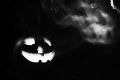 Spooky Jack (awdylanis) Tags: light white mist black halloween smile fog dark pumpkin jack happy weird carved scary o jackolantern spirit ghost pumpkins carving creepy spooky samhain glowing lantern latern 2014 happyjack candlelight trickortreat hinkypunk jackolantern willothewisp hobbylantern pumpkinface pumpkincarving nightignisfatuus allhallowseve