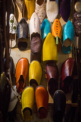 Slipper Souk - Medina, Marrakech (JGMarshall Photography) Tags: africa travel people holiday sahara canon photography interesting tour market northafrica adventure explore morocco atlas sweets marrakech souk medina dslr trade slippers traders patissiere foundouk joemarshlalljgmarshall