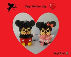Mickey and Minnie Origami 3d (Samuel Sfa87) Tags: mi 3d origami disney mickey sfa minnie walt papercraft topolino origami3d sfaorigami sfa87