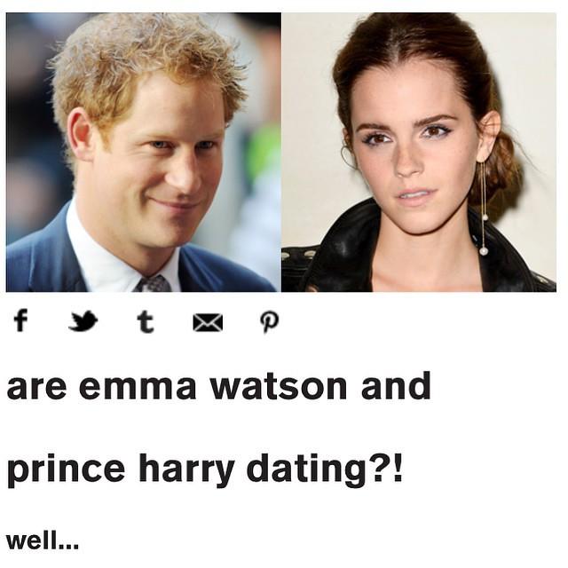 OMG! EMMA WATSON pode ser a nova namorada do Principe Harry! Boatos dizem qu Harry soube que Emma estava solteira e pediu a amigos em comum pra armar um encontro da galera. Nesse encontro ele mostrou o poder da varinha real pra Hermione que, claro, se apa