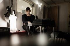 Rehearsals (elliotroper91) Tags: england electric studio keys focus keyboard bass bokeh grain band piano fujifilm recording compact wurlitzer x100 mirrorless x100t