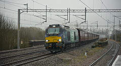 Class 68 on the WCME (Wulfruna Kid) Tags: trent valley rtc tamworth astute wcml 68003 class68 direstrailservices wcme