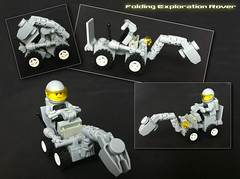 Folding Rover (Hen Peril) Tags: classic grey ship lego space gray rover buggy moc febrovery