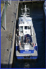 Dutch Police P96 Birdview. (NikonDirk) Tags: holland water netherlands dutch port river boot bay harbor boat riot nikon marine ship foto cops harbour nederland police vessel national maritime agency cop infrastructure dvp nautical naval haringvliet infra damen dwp willemstad seaport hollands p31 unit dsp rhib diep rvp politie 2505 dienst landelijke rivier eenheid constables infrastructuur patrols zhp klpd zeehaven waterpolitie spopo zeehavenpolitie p96 hulpverlening rivierpolitie nikondirk stanpatrol