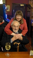 At the Lord Raglan - Douglas Wilmer & Jean Upton (photo by Roger Johnson)