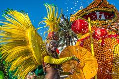 FTE DU CITRON - MENTON (daumy) Tags: orange france jaune lemon corso fete carnaval char citron ville menton plume dcor dfil danseuse provencealpesctedazur festivit