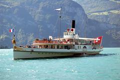 Fluelen, Lake Luzern, DS Gallia, 6 September 2007 (BaggieWeave) Tags: lake switzerland ship swiss luzern lucerne steamer lakeluzern lakelucerne paddlesteamer vierwaldstattersee swisslake lakeuri swisslakes
