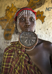 Mursi Tribe Woman With A Huge Lip Plate, Hail Wuha Village, Ethiopia (Eric Lafforgue) Tags: africa portrait people vertical real photography interesting women day adult native african earring culture lifestyle indoor tribal intriguing omovalley lip ethiopia tribe custom ethnic bizarre mursi impressive adultsonly anthropology bodymodification oneperson jewel labret onepeople hornofafrica ethnology ethiopian omo eastafrica earpiercing onepersononly 2025years blackskin onewomanonly lookingatcamera beautify loweromovalley colorpicture africanethnicity 1people mursitribe indigenousculture africanculture ethnicgroup lipplate onlywomen southethiopia bodyadornment colourpicture bodytransformation murzu oneadult oneadultonly lipdisc magopark piercedhole ethiopianethnicity enlargedearlobe enlargedear hailwuha ethio1410251