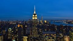 Manhattan skyline (MarkWarnes) Tags: nyc travel usa newyork nikon manhattan newyorkskyline manhattanskyline empirestatebuilding newyorkatnight manhattanatnight newyorkpanorama manhattanpanorama manhattanatdusk nikond750