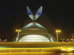 City of arts and Sciences night view (Sallyrango) Tags: city urban valencia architecture night spain spanish nightscene modernarchitecture urbanarchitecture ciudaddelasartesylasciencas cityofartsandscience