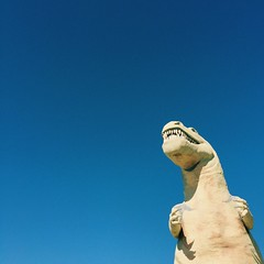 Mr. Rex (mlee525) Tags: california travel sky roadtrip negativespace rex dinosaurs tyrannosaurus cabazon tyrannosaurusrex cabazondinosaurs mrrex dinnythedinosaur