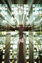 Jesus! (Peter D Middleton) Tags: light church cross religion jesus dent burst anglican