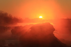 just sunrise. (cate) Tags: mist fog sunrise river earlymorning