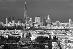 La Tour Eiffel III (SylvainMestre) Tags: bw paris france eiffeltower nb toureiffel teleconverter gustaveeiffel vuedepuislatourmontparnasse tc20eiii