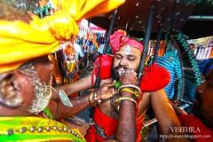 Getting pierced (visithra) Tags: festival celebration malaysia kualalumpur hindu hinduism batucaves thaipusam kavadi 2015 muruga