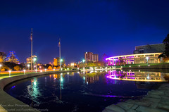 Nutcracker at the Long Center (OscarAmos) Tags: water night austin downtown texas lensflare townlake lighttrails tamron hdr photomatix tonemapped detailenhancer 1024mm topazadjust nikond5100