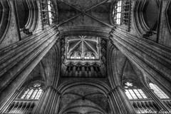 La Cathdrale Notre-Dame de Rouen (tione76) Tags: white black france monument religious nikon noir darkness cathedral cathdrale sombre rouen normandie normandy blanc hdr religieux d5300