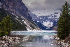 Lake Louise - Spring 2014 (D.Spence Photography) Tags: lake snow canada mountains ice pentax louise alberta wilderness k5 banffnationalpark victoriaglacier justpentax