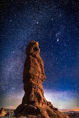 Stargazer (jondblake) Tags: night stars utah nightscape nightshot arches moab archesnationalpark rockformation nightlandscape moabutah jonblakephotography jonblakephotographycom monotythe