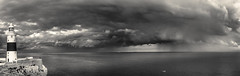 Ligthhouse (sebistaen) Tags: winter sea panorama cloud lighthouse white black rain flickr ligth gibraltar sebistaen