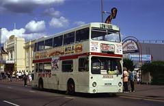 Hunts, GHV970N, Skegness, 1992 (Lady Wulfrun) Tags: street bus london ex garage transport august 1992 23rd lt gillingham skegness dms hunts ghv970n dm970 skegvagas