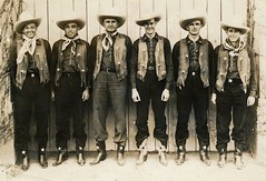 University of Texas Longhorns 1936 Track Relay Team dressed as cowboys for the Texas Centennial (The Happy Rower) Tags: world field hat yard 1936 star centennial costume team cowboy un