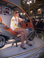 motorshow model (themax2) Tags: 2001 legs bologna hostess pantyhose motorshow