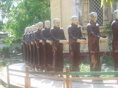 Burmese Monk Statues