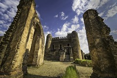 Camelot! It's only a model... (departing(YYZ)) Tags: africa travel building castle tourism home stone architecture outside ancient cloudy sony capital perspective culture royal palace tourist medieval structure imperial ethiopia alpha camelot fortress ultrawide a7 eastafrica gondar 14mm samyang royalenclosure fasilghebbi fasilides