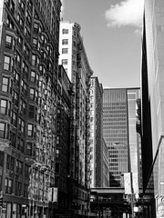 Backalley Chicago (Christoph Jakob) Tags: city white chicago black alley block gotham