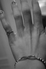 55.365 (liz.kyle) Tags: bw white black hands finger failure fingers ring nails help bracelet ideas phalanges noinspiration