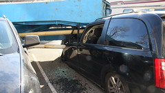 Vehicles Crushed by Cement Pouring Truck (bcfiretrucks) Tags: canada news fire bc crash accident over police columbia canadian richmond tip workplace british rcmp minivan incident department crushed rollover