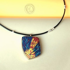 New pendant Comet from future (Author's jewelry) Tags: handmade style anhnger stil modeschmuck designerjewelry contemporaryjewelry uniquejewelry uniquependant authorsjewelry gfart gfartstore modernmodeschmuk