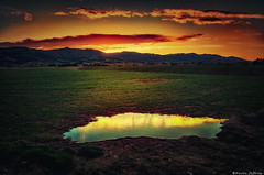 Little Lake (Kevin_Jeffries) Tags: lake colour reflection water rural puddle hill farmland kevinjeffries