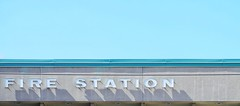 Blue Fire (@ThetaState) Tags: sign typography clearsky paleblue firestation 2016 july canada ontario toronto