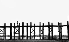 (cherco) Tags: wood bridge shadow sky blackandwhite blancoynegro silhouette composition canon puente madera alone walk sombra cielo myanmar lonely silueta solitary solitario composicion aloner