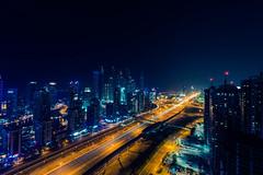 Dubai City Street Lights (slimaly) Tags: dubai uar night longexposue