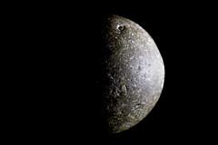 Moonstone... (The Mad Macrographer) Tags: cannonball stone tabletopphotography blackbackground sidelight halfmoon peterborough uk nikkvalentine canon7d canonef100mmf28lmacroisusm