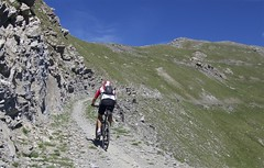Cliff road above Gran Serin (will_cyclist) Tags: italy cycling military finestre assietta