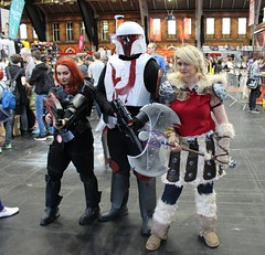 McM Manchester 2016 (McCluckles) Tags: mcm manchester 2016 comic con cosplay costume star wars mass effect mandalorian how train your dragon astrid fem shep shepard gander swap