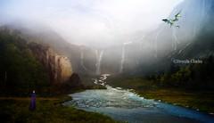(~Brenda-Starr~) Tags: mountains nature water landscape waterfall dragon fantasy bp cf allrightsreserved brendastarr brendaclarke july2016