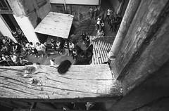 Black cat (niniwitch) Tags: bw black yard cat balcony peopl tbilisi