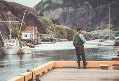 To fish or not to fish... (Elena L-v) Tags: quidividivillage fisherman fishing stjohns newfoundland