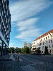 Cityscapes and skylines (nesihonsu) Tags: clouds sky cirrocumulus norwida uniwersytetprzyrodniczy kredka ołówek wrocław