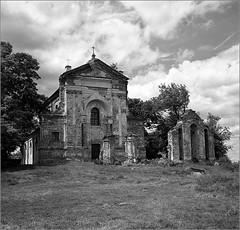 2016-05-09  Kodak 400TX in D76 20C 6,5 min   1 009-02web (Yuriy Sanin) Tags: castle blackandwhite 6x6 medium format kodak400tx trees church meadow  yuriy sanin        kievrus