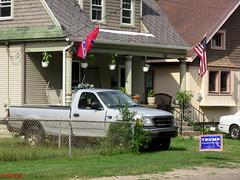 Stars & Bars For Trump (PPWIII) Tags: grandrapids north park riverside trump stars bars confederate politics flags