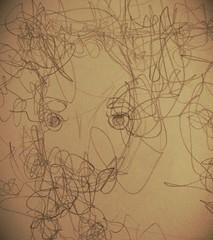 (lu.glue) Tags: lu luglue basel drawing zeichnung bleistift dessin disegno face visage gesicht kopf tete testa head line linie linea ligne crayon pencil human woman frau mensch famme personne lady donna eyes yeux augen