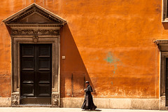Walking Priest (hammockbuddy) Tags: ifttt 500px red city street travel religion church europe italy tourism urban architecture building rome orange colors shadows italia faith landmark roma tradition old christianism