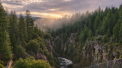 We cannot command Nature except by obeying her... (ferpectshotz) Tags: sacramentoriver sunrise pines boxcanyondam boxcanyon northerncalifornia winter storm cliffs